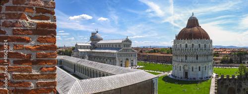 Carta da parati Panoramic view of Piazza dei Miracoli Pisa