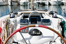 Sailing Boat Helm Station With...