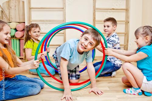 Playing in school gym © 2xSamara.com