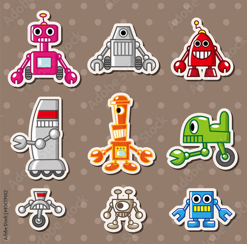 Foto op Canvas Robots robot stickers