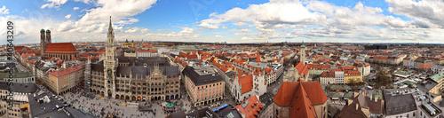 Poster Panoramafoto s München Innenstadt Panorama