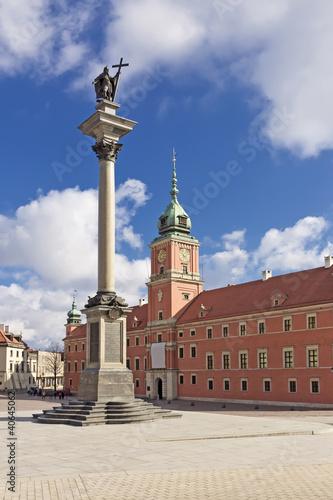 Fototapeta Sights of Poland. Warsaw Castle Square. obraz