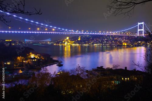 Carta da parati Fatih Sultan Mehmet Bridge at the night 6