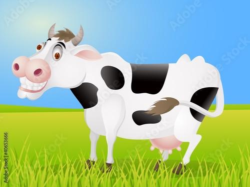 Poster Ranch Cow cartoon