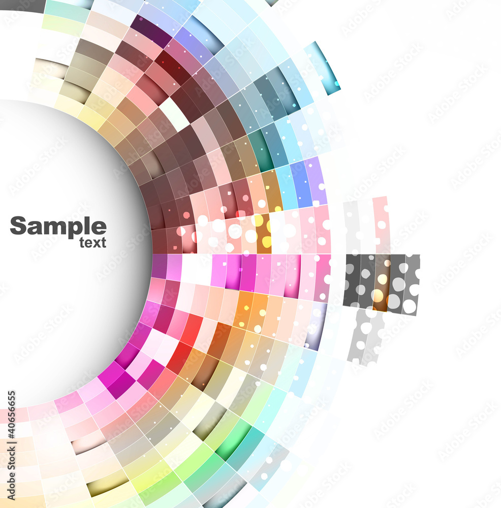 Abstract technology bright colorful vector