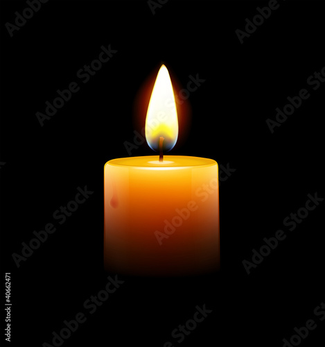 Fototapeta Yellow candle