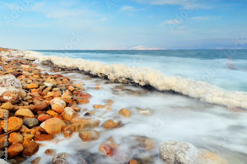 Foto-Rollo - Dead Sea Shore near Ein Gedi, Israel
