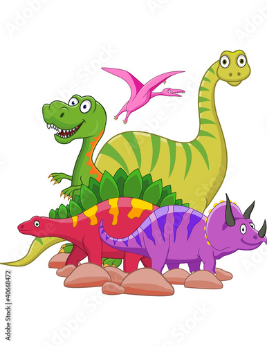 Spoed Fotobehang Dinosaurs Dinosaur cartoon