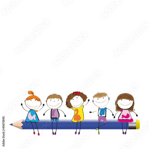 edukacyjna-ilustracja-dzieci-trzymajace-duzy-olowek