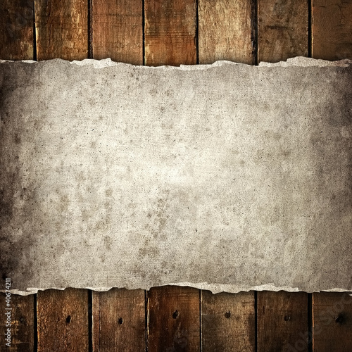 Fototapeta na wymiar paper on wood background