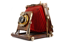 Old Wooden Photo Camera