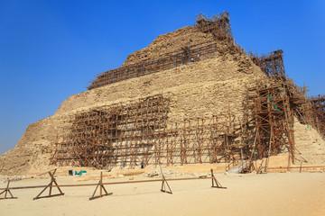 Restoration of the pyramid of Djoser, Saqqara, Egypt