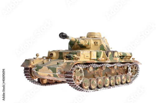 Photo  scale model of a german tank from WWII