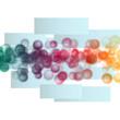canvas print picture - fantastic powerful bubbles background design illustration