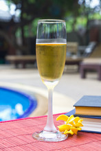 Wine Glasses At The Pool