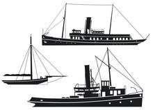 Dampfschiffe Und Kutter