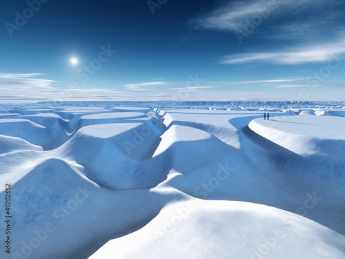 Photo Stands Arctic north pole