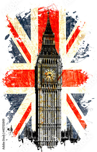 angielska-flaga-big-ben-pionowa