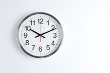 Silver Shiny Clock Hanging At ...