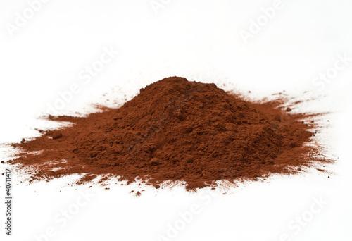 Fotografía  cacao in polvere