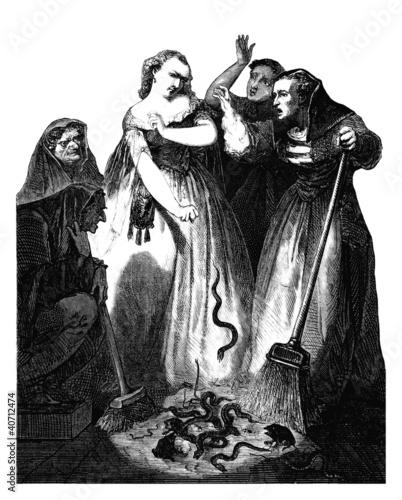 Witches - Sorcières Fototapet