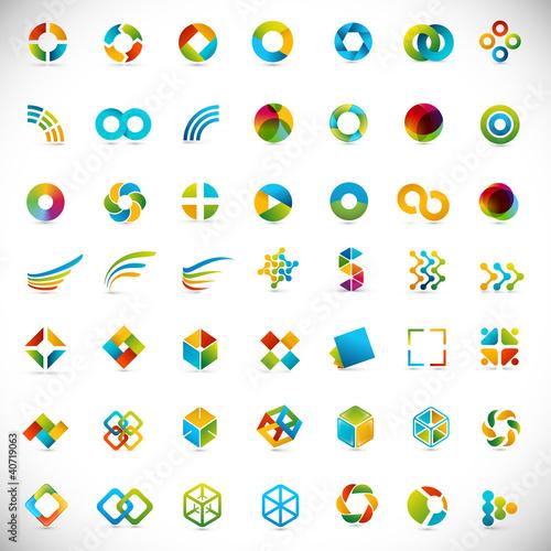 Fotografía  49 logo design / elements set - creative symbols