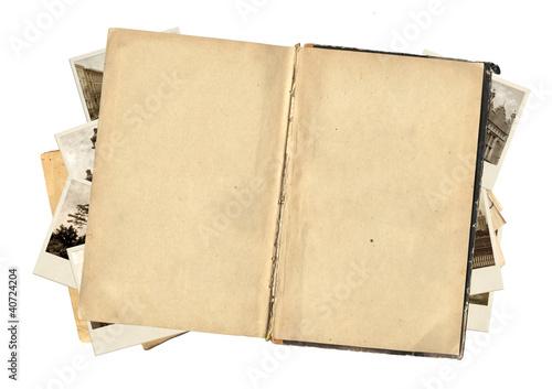 Obraz Old book and photos - fototapety do salonu