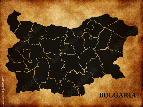 Photo map of Bulgaria country