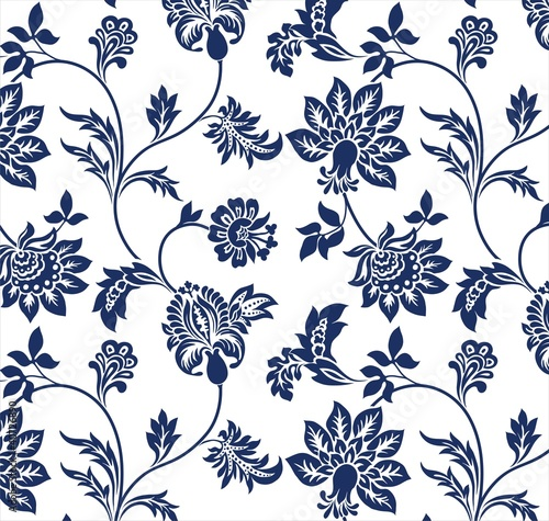traditional floral pattern, textile design , royal India Fototapete