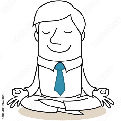 Doppelrollo mit Motiv - Geschäftsmann, Yoga 2