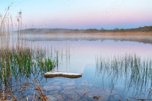 Poster Lac / Etang Irish lake before sunrise