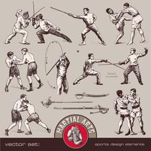 Vector Set: Martial Arts