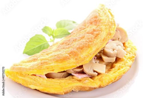 tasty omelette with mushroom