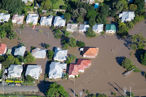 Brisbane Suburbs Flooding Wallpaper Mural