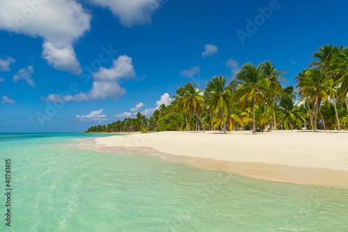 Foto-Leinwand - Caribbean Beach (von engel.ac)