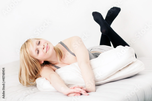Im Bett Liegen Buy This Stock Photo And Explore Similar Images At