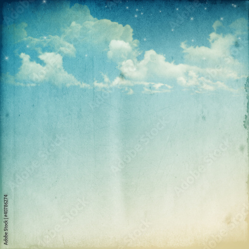 Photo sur Toile Retro cloudscape