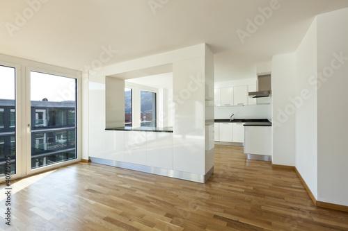 Obraz beautiful new apartment, interior open space - fototapety do salonu