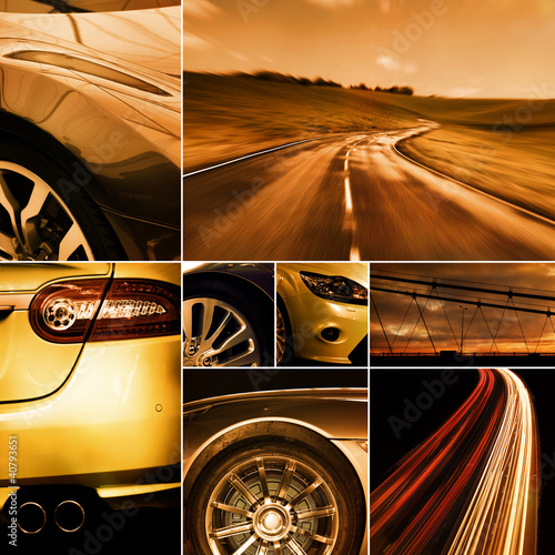 motoring collage #40793651