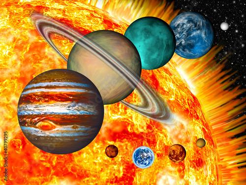 Naklejki kosmos uklad-planetarny-z-kosmosem-dla-dzieci