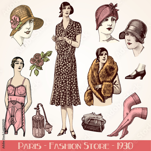 Poster  Fashion store 1930