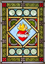 Stained Glass Window With Heart