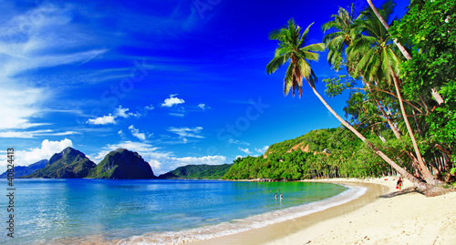 panoramic beautiful beach scenery - El-nido,palawan #40824413