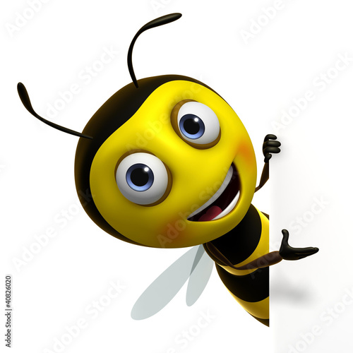 Poster Sweet Monsters cute bee