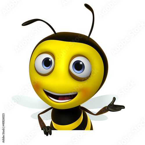Poster de jardin Doux monstres honey bee