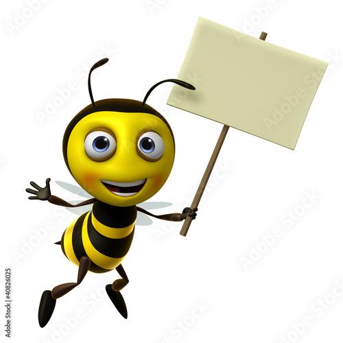 Poster de jardin Doux monstres bee