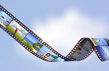 Filmstrip With Vacation Photos