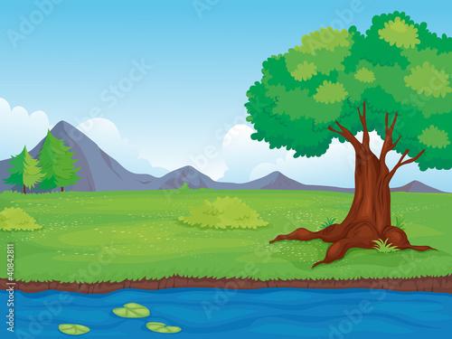 Poster Pool Rural landscape