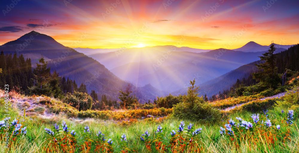 Obraz mountain landscape fototapeta, plakat