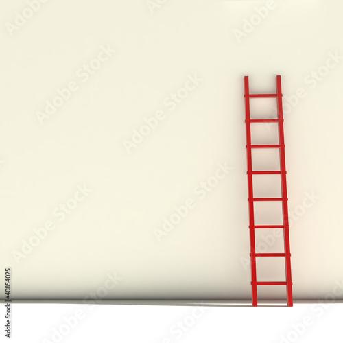 Foto op Plexiglas Trappen red ladder